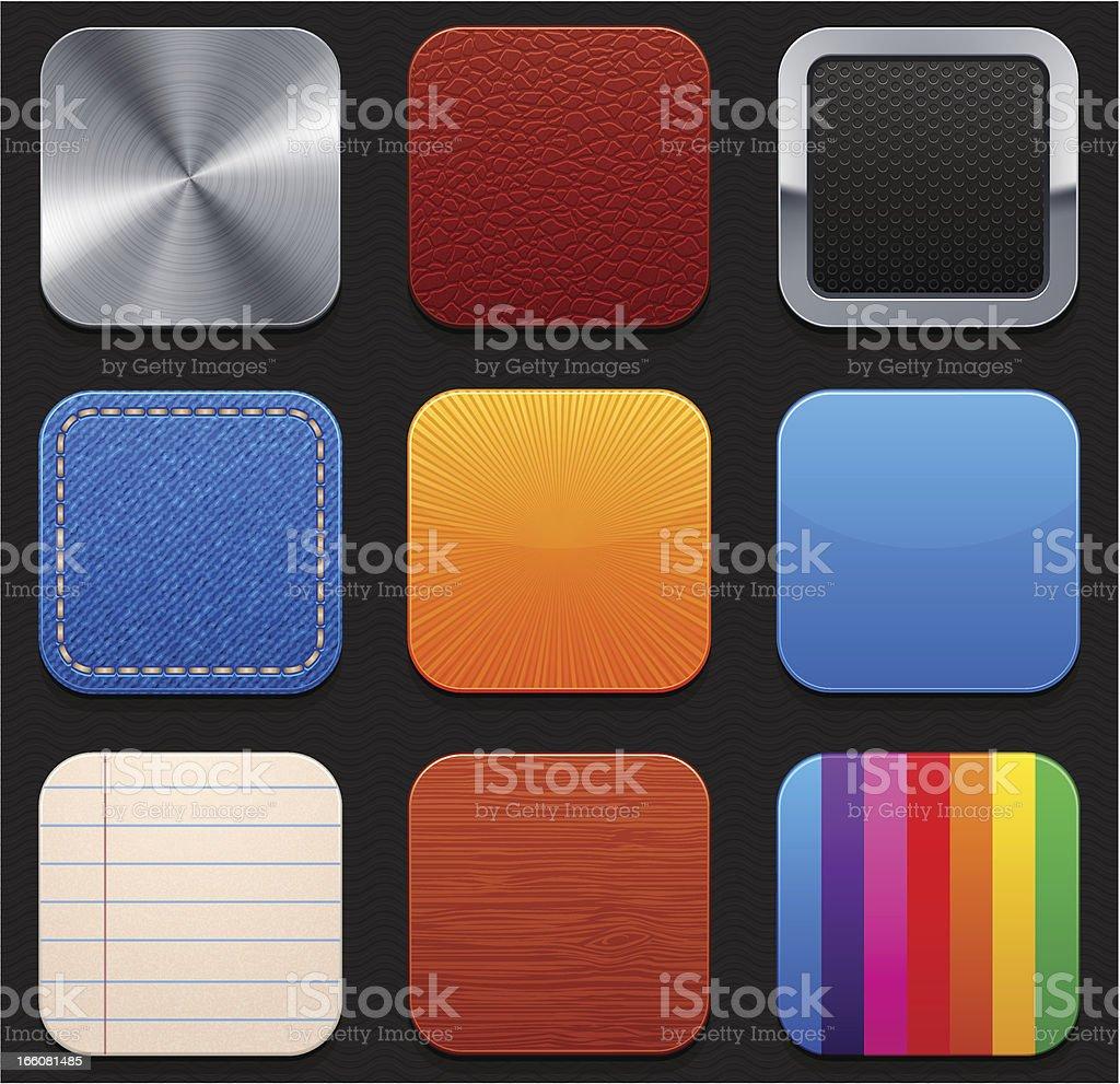 App icons templates vector art illustration