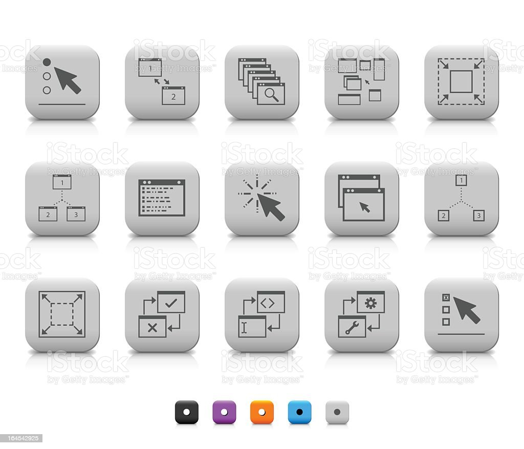 App icons royalty-free stock vector art