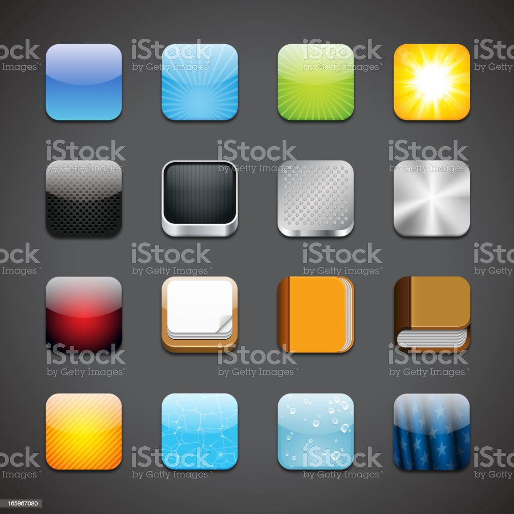 App icons vector art illustration