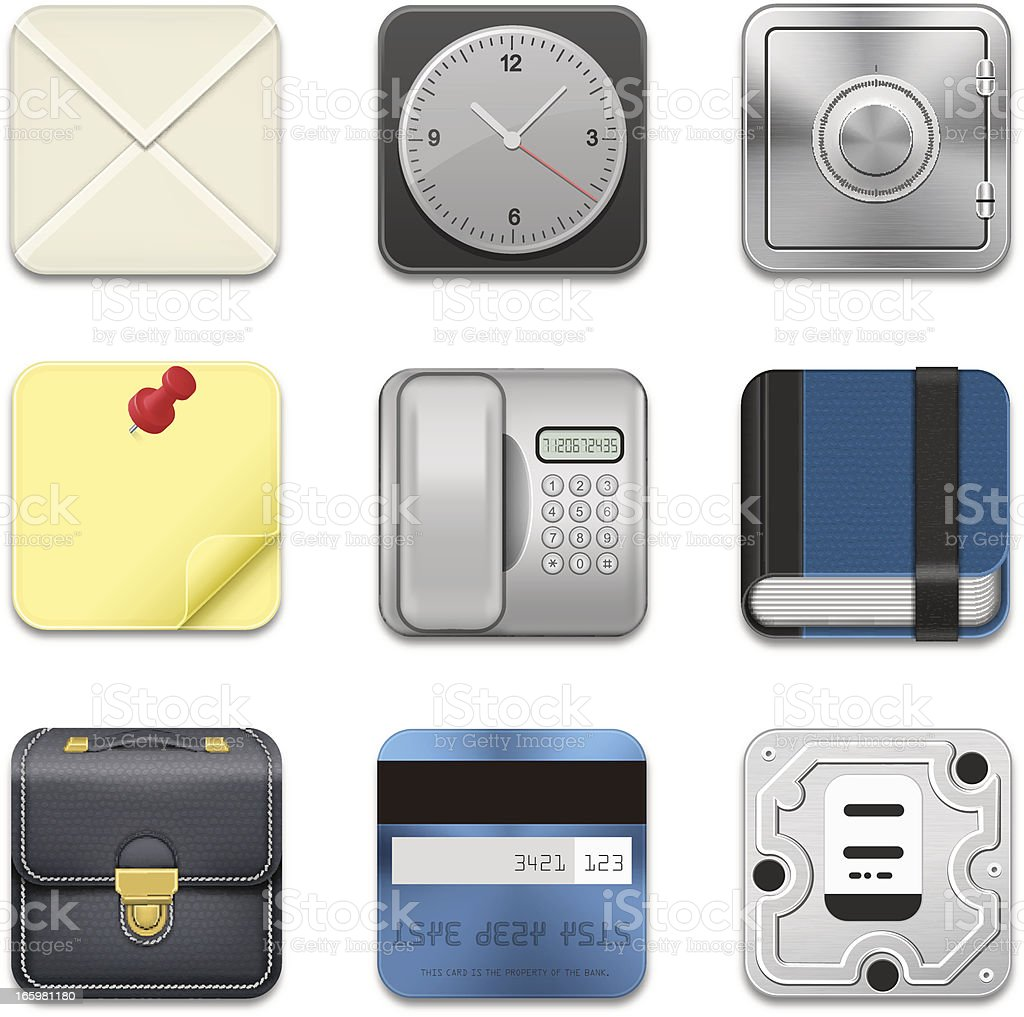 App icons royalty-free stock vector art