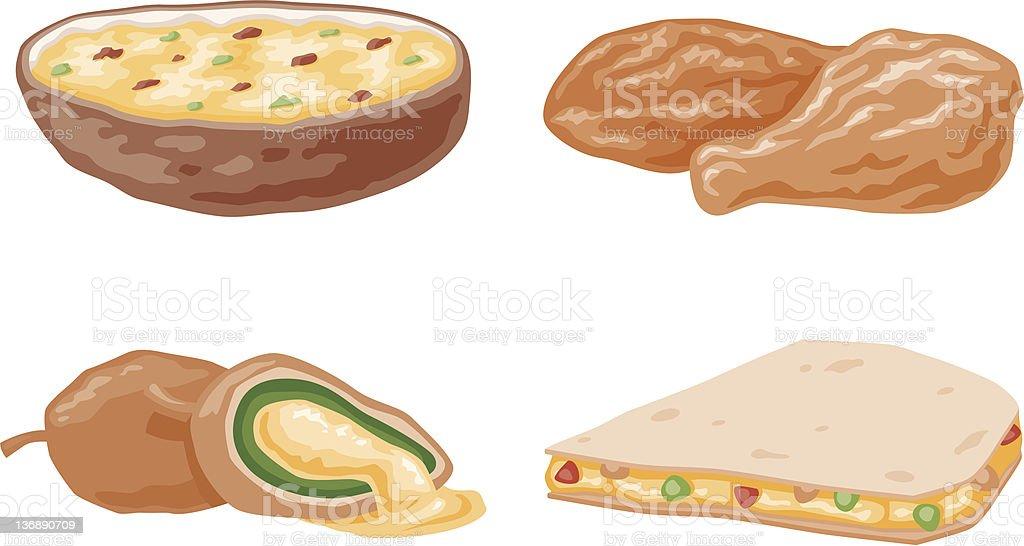 Appetizer Icons vector art illustration