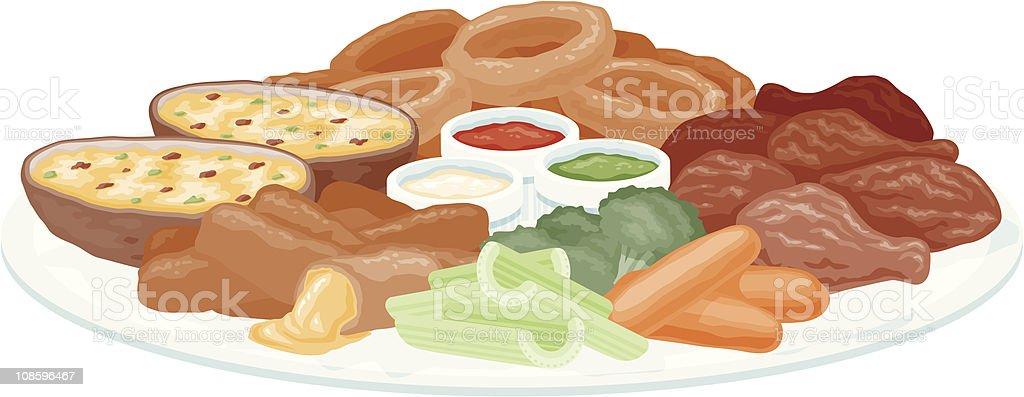 Appetizer Platter vector art illustration