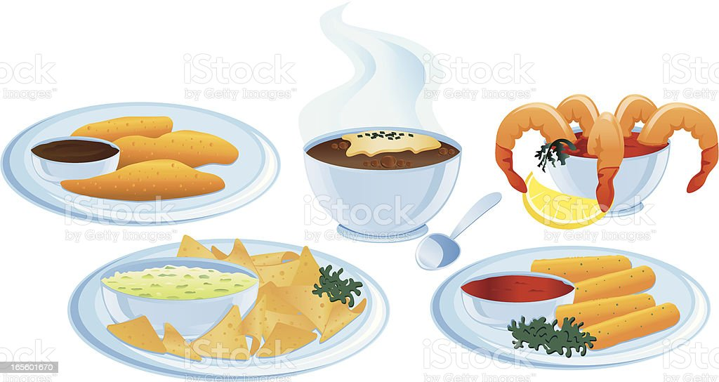 Appetizers royalty-free stock vector art