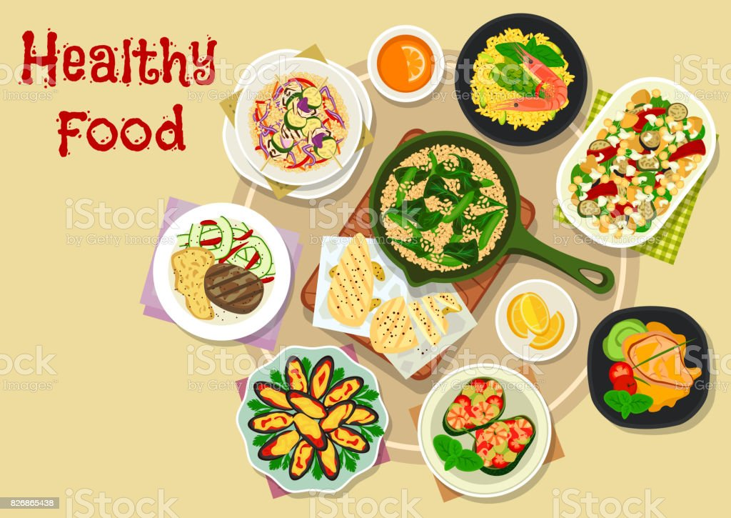 Appetizing meal icon for lunch menu design vector art illustration