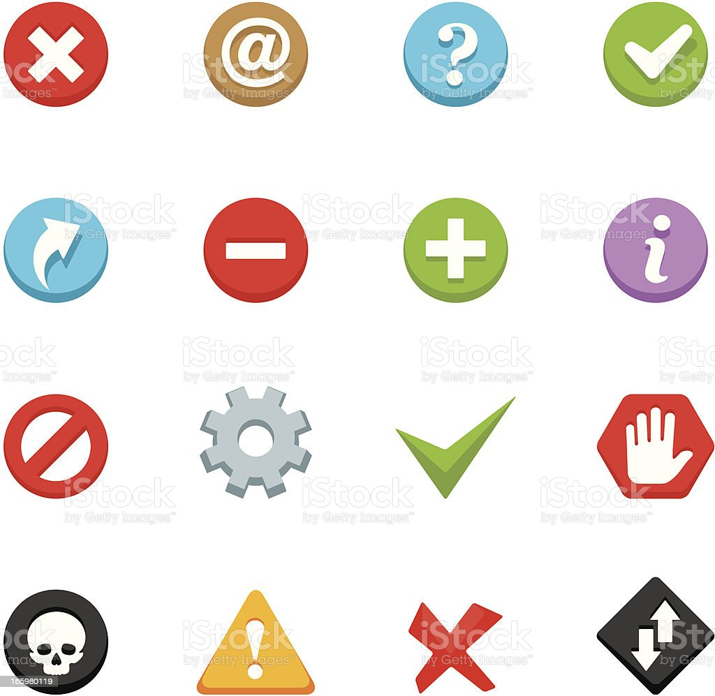 Appico icons - Interface buttons vector art illustration