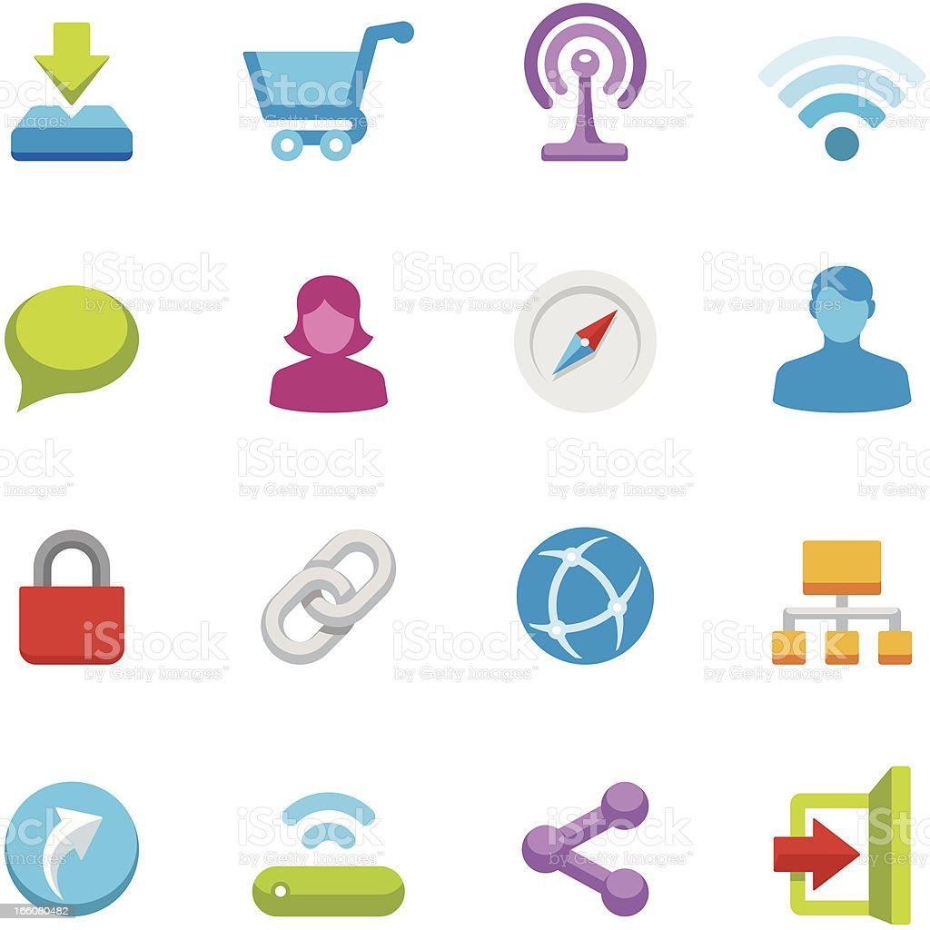 Appico icons - Internet royalty-free stock vector art