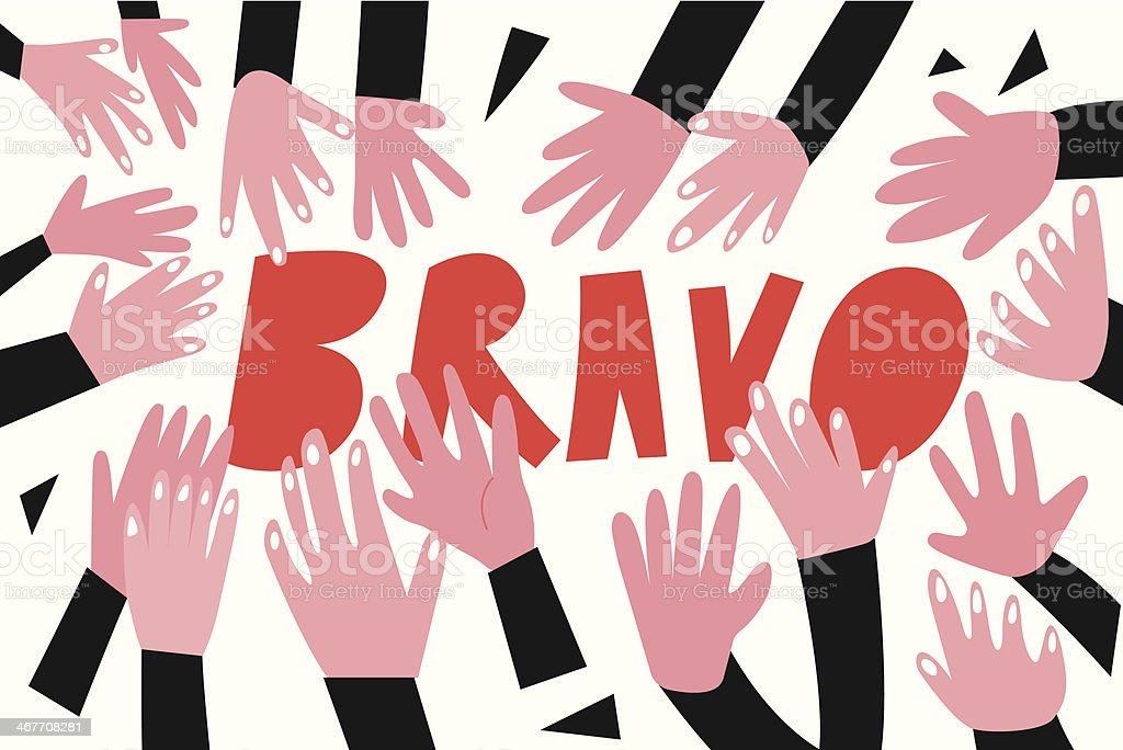 applause - vector cartoon vector art illustration