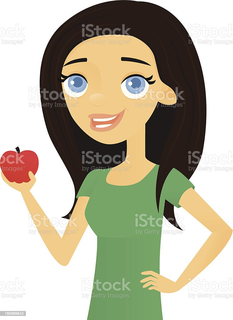Apple a Day royalty-free stock vector art