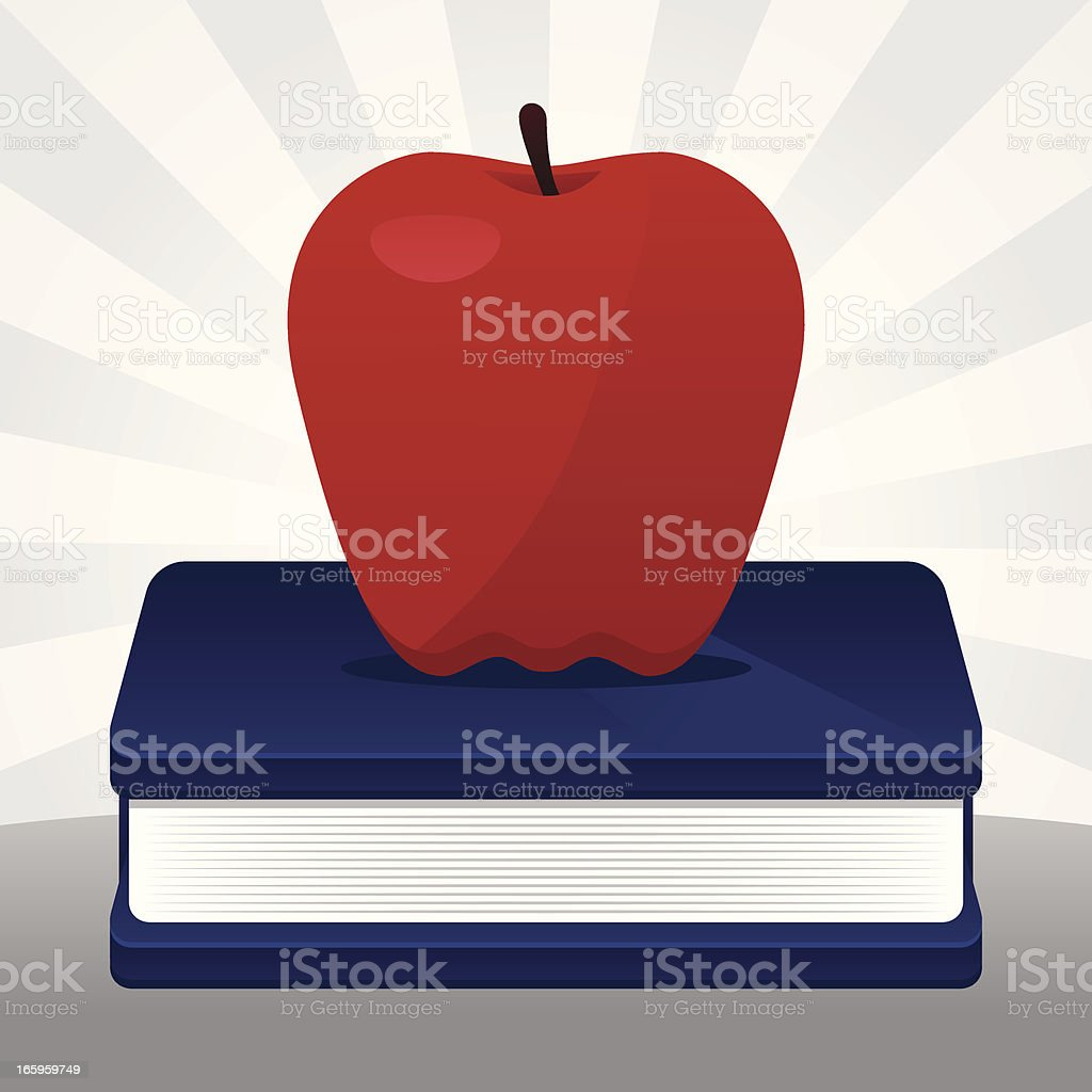Apple and book royalty-free stock vector art