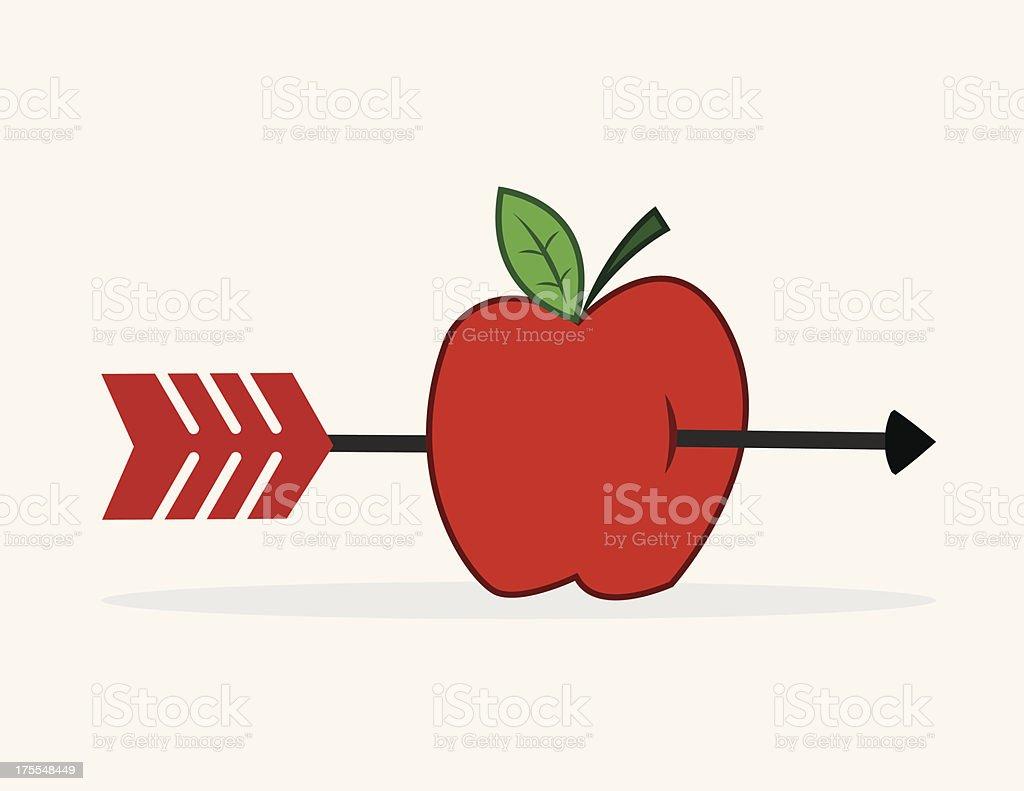 Apple Arrow royalty-free stock vector art