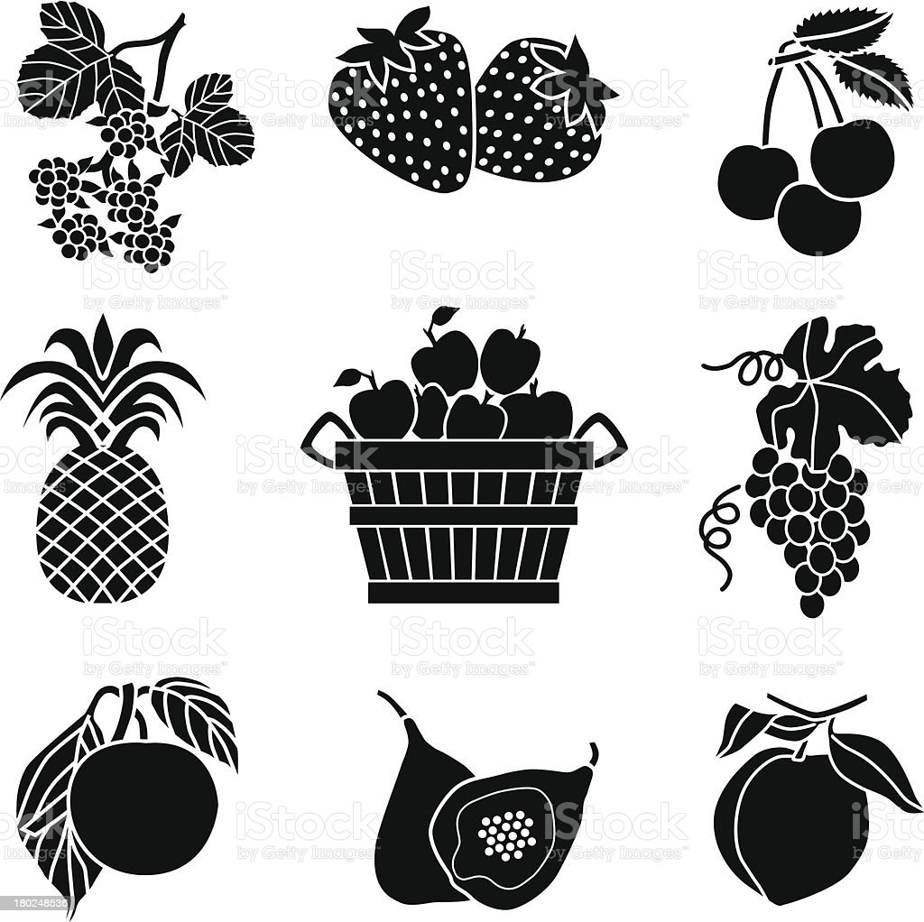 apple bushel and fruit royalty-free stock vector art