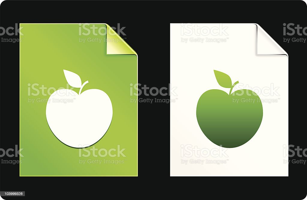 apple design elements vector art illustration