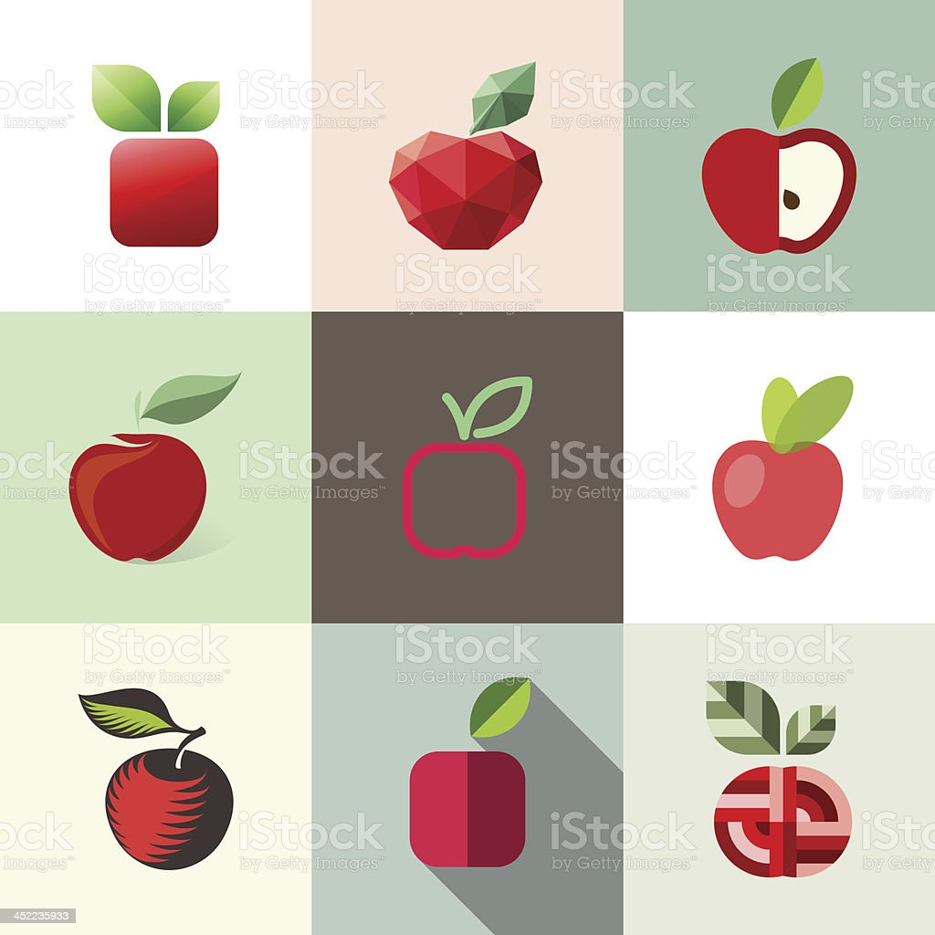 Apple. Elements for design. royalty-free stock vector art
