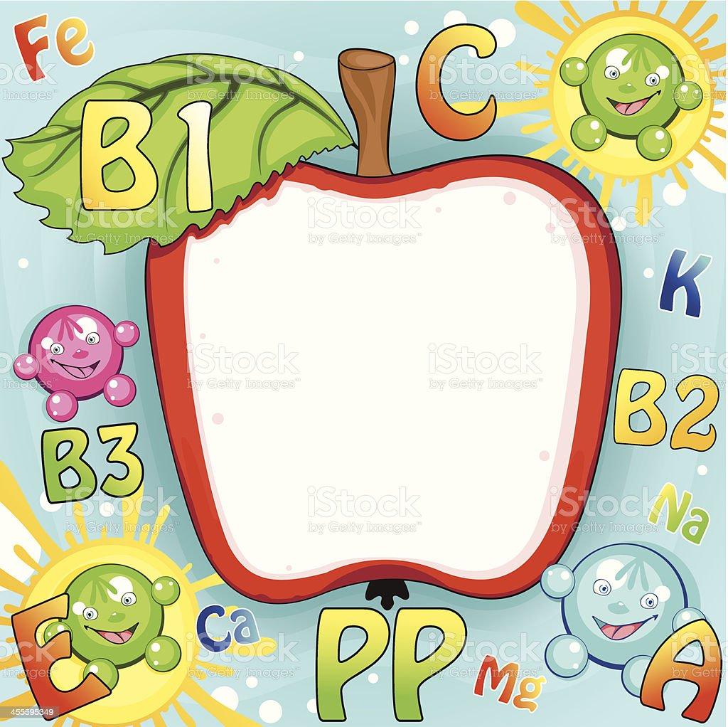 Apple frame. royalty-free stock vector art