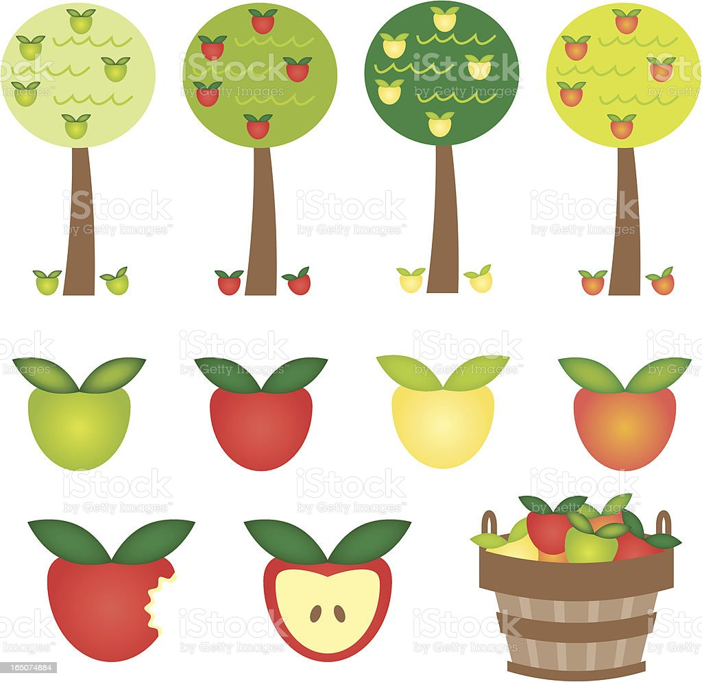 Apple Harvest royalty-free stock vector art