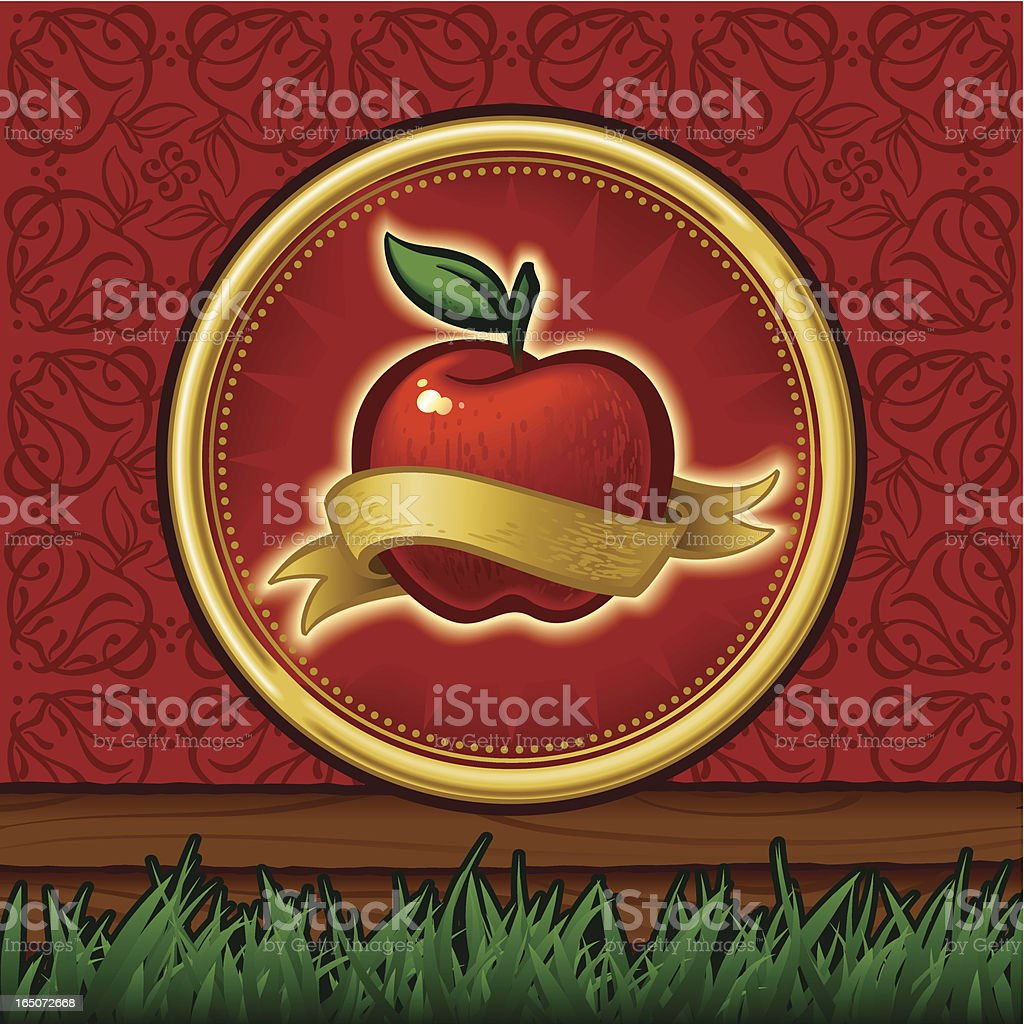 Apple Icon and graphic elements royalty-free stock vector art