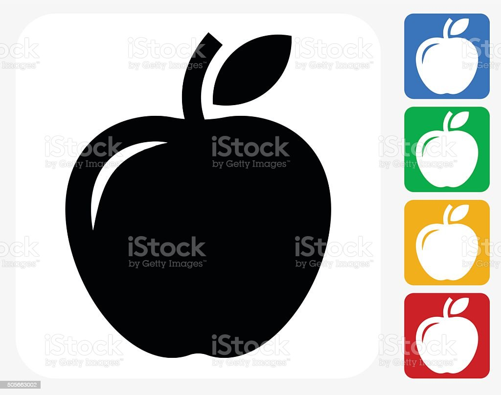 Apple Icon Flat Graphic Design vector art illustration