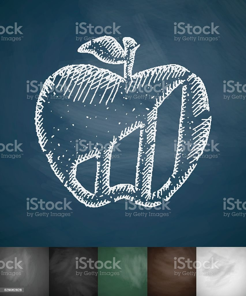 apple icon. Hand drawn vector illustration vector art illustration