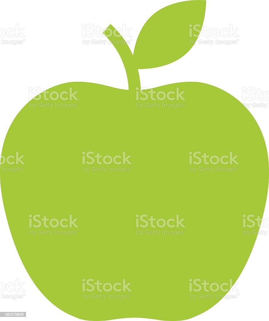 Apple icon, modern minimal flat design style. Vector illustration vector art illustration