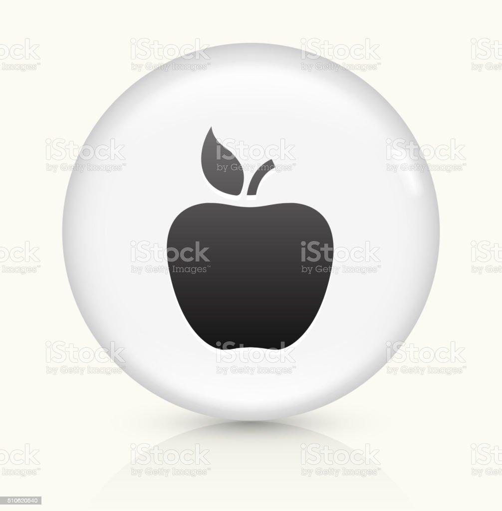 Apple icon on white round vector button vector art illustration