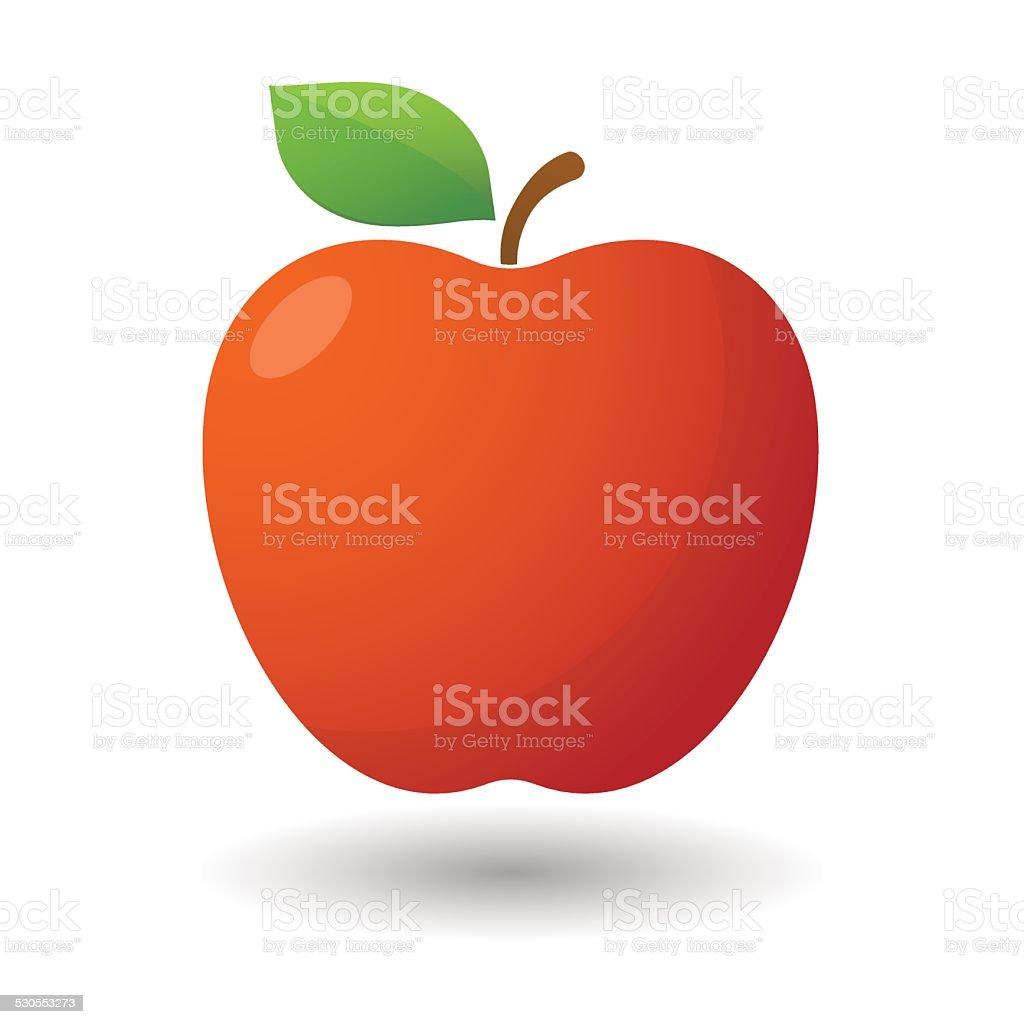 Apple icon vector art illustration
