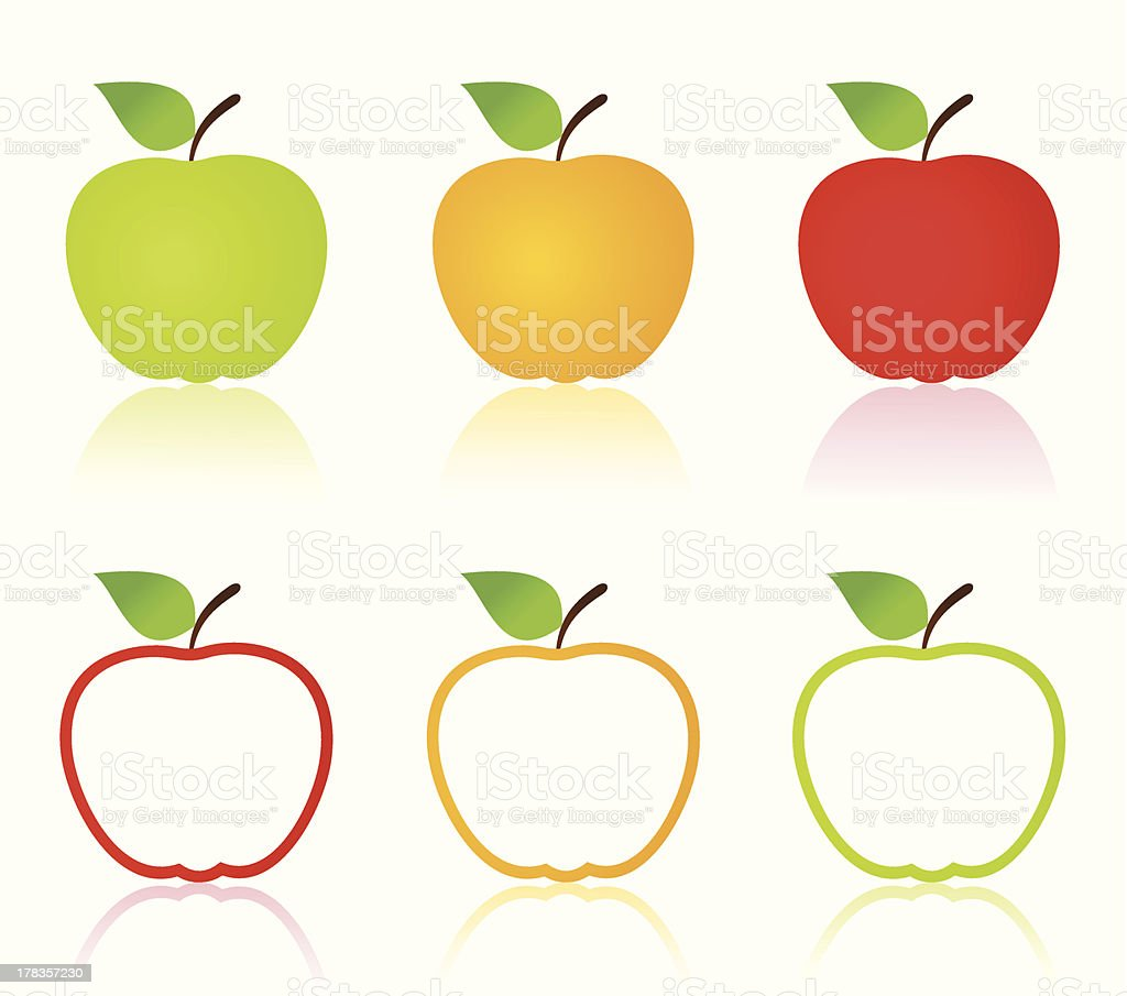 Apple icons royalty-free stock vector art