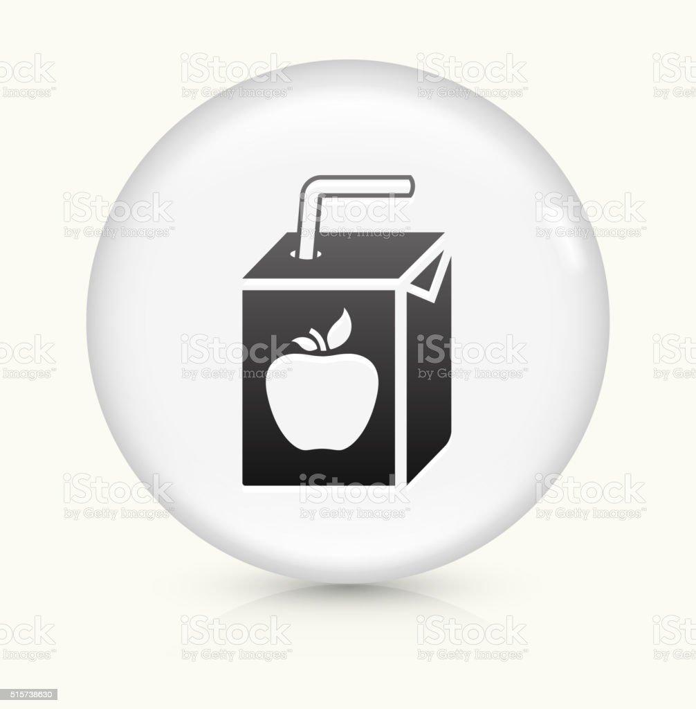 Apple Juice Box icon on white round vector button vector art illustration