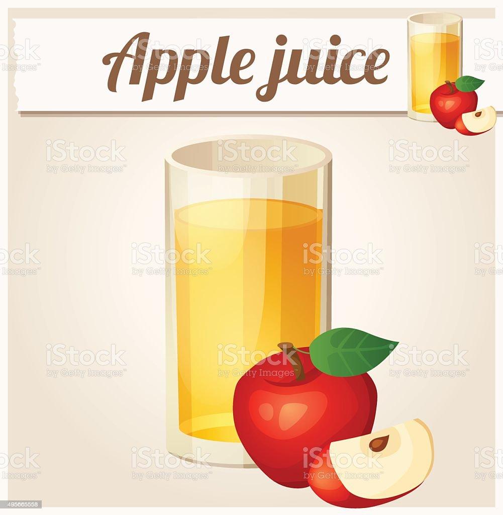 Apple juice. Detailed Vector Icon vector art illustration