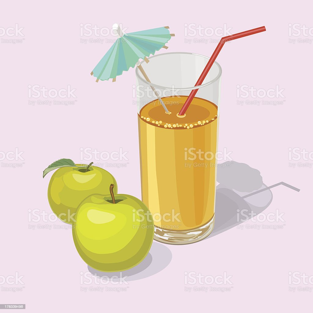 apple  juice royalty-free stock vector art