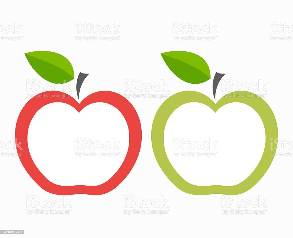 Apple labels vector art illustration