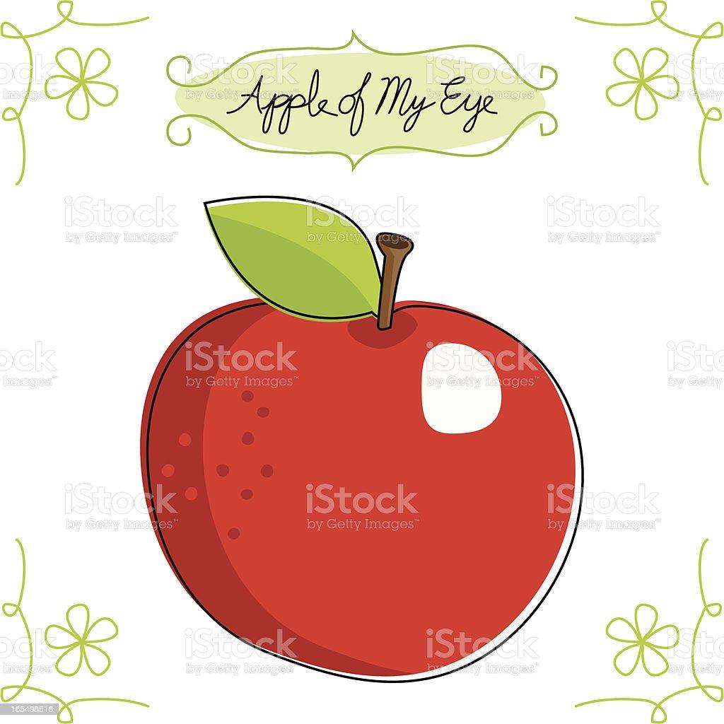 Apple of My Eye vector art illustration
