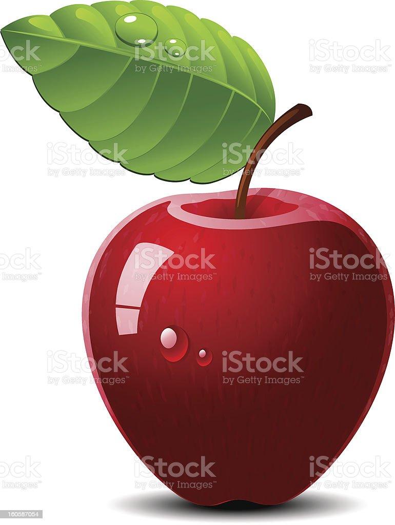 Apple over white royalty-free stock vector art