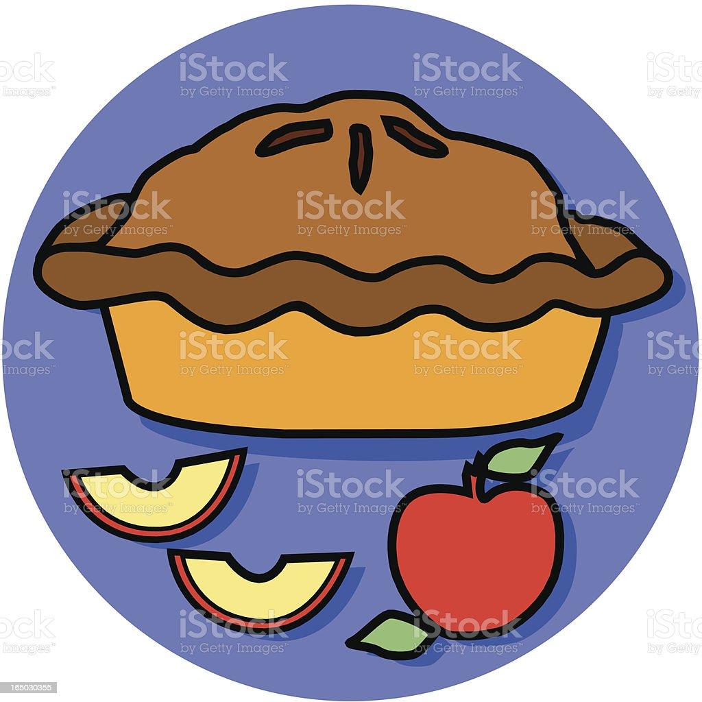 apple pie icon royalty-free stock vector art
