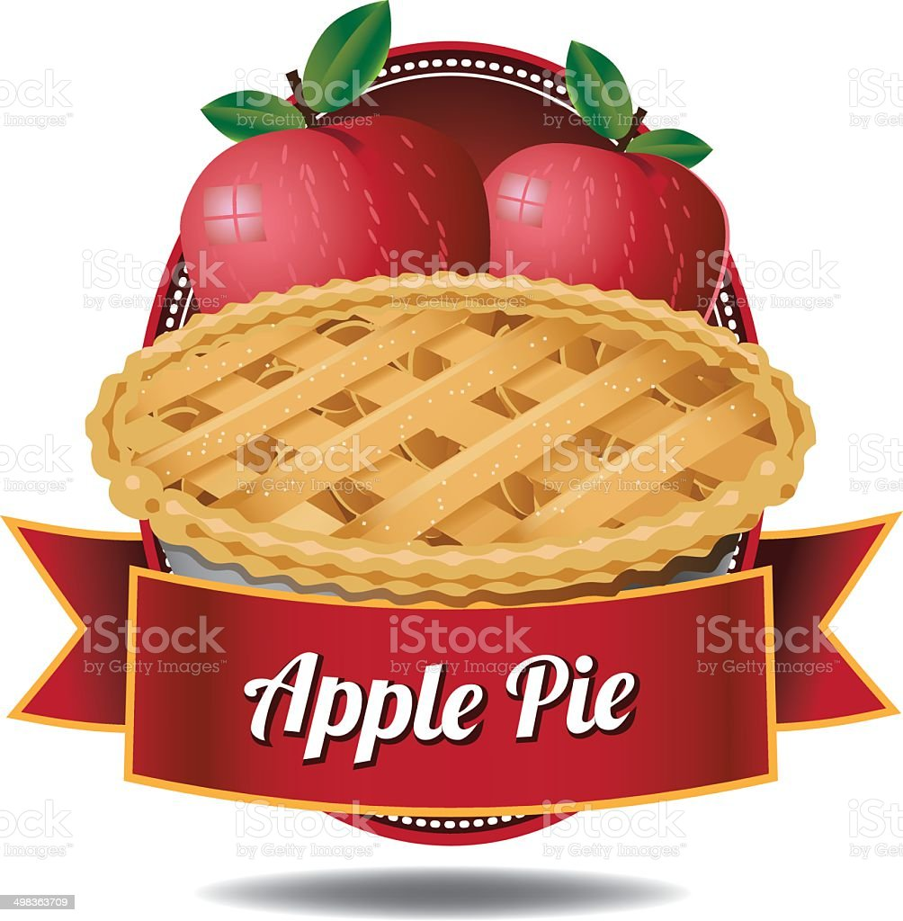 Apple pie icon royalty-free stock vector art