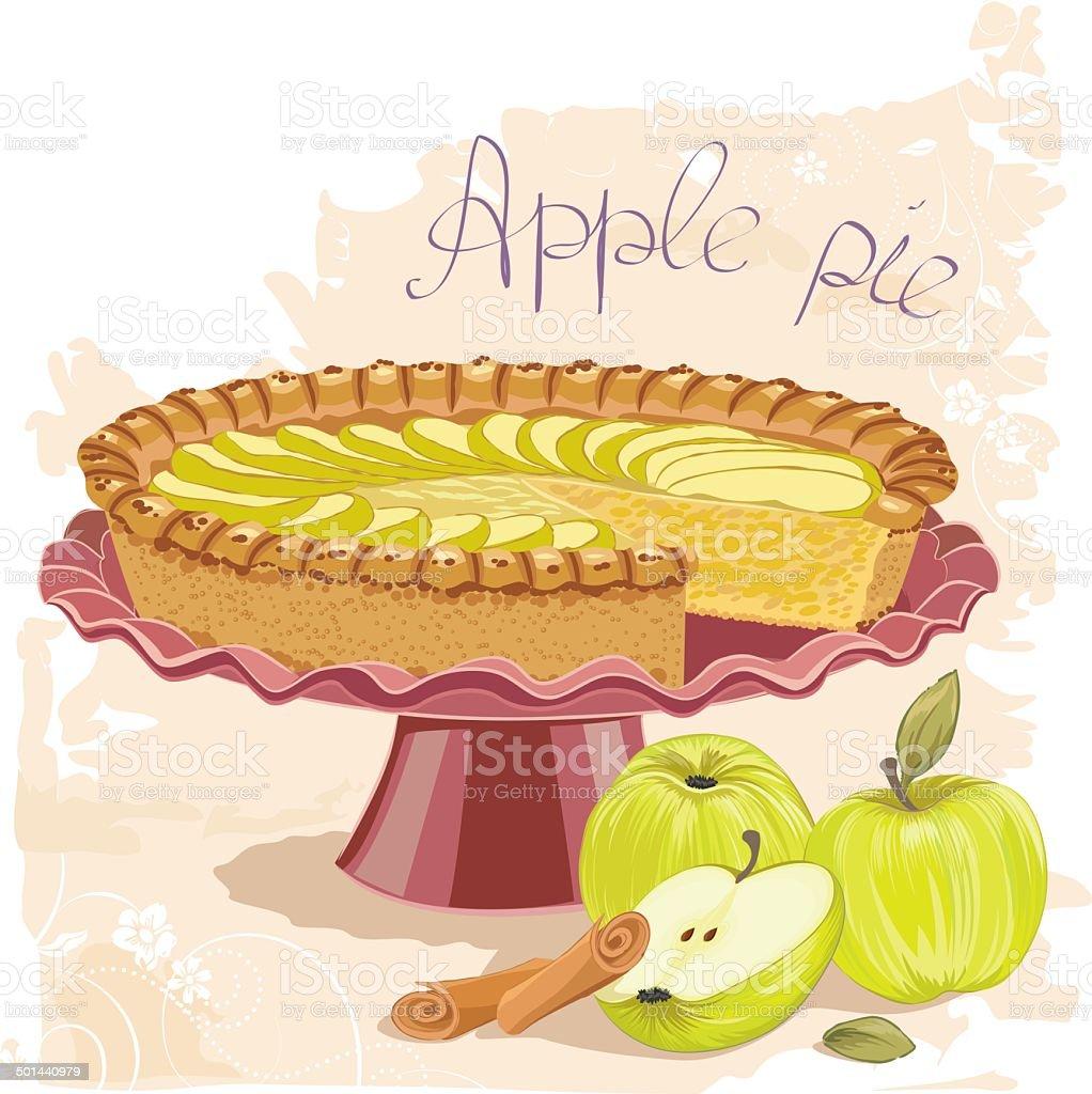 Apple pie royalty-free stock vector art