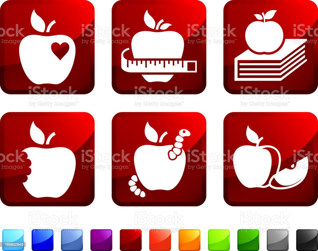 Apple royalty free vector icon set stickers royalty-free stock vector art