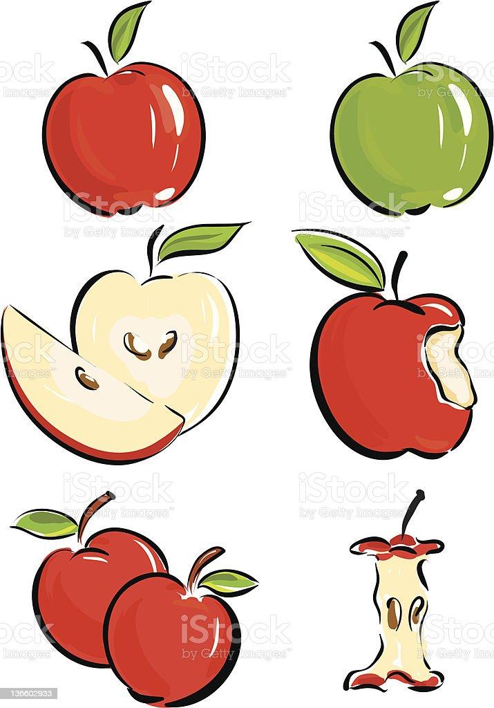 apple set royalty-free stock vector art