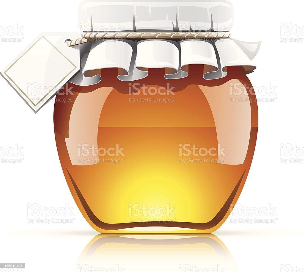 Apple shaped honey jar alabaster royalty-free stock vector art