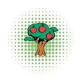 Apple tree comics icon