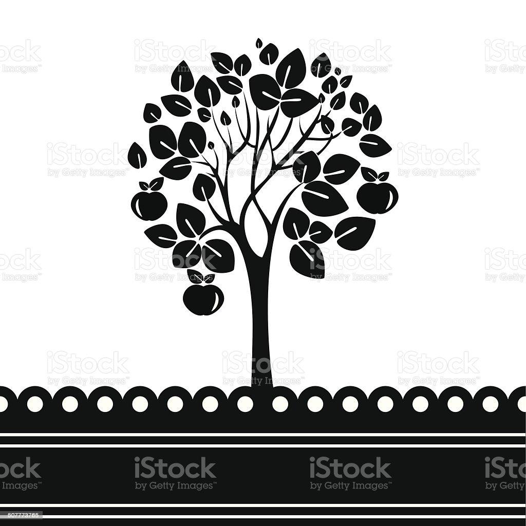 Apple tree - Illustration vector art illustration