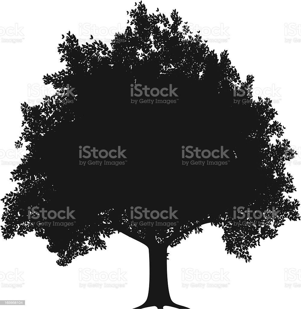 Apple Tree Silhouette royalty-free stock vector art