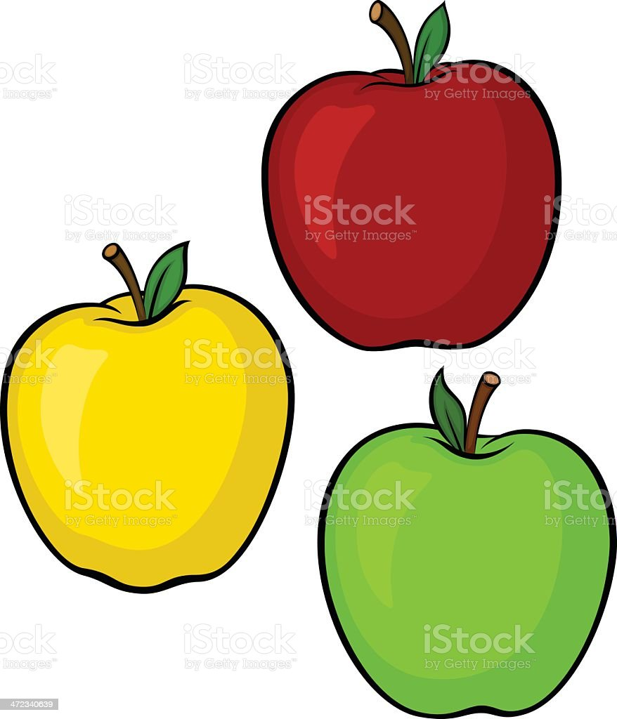 Apple Variety vector art illustration