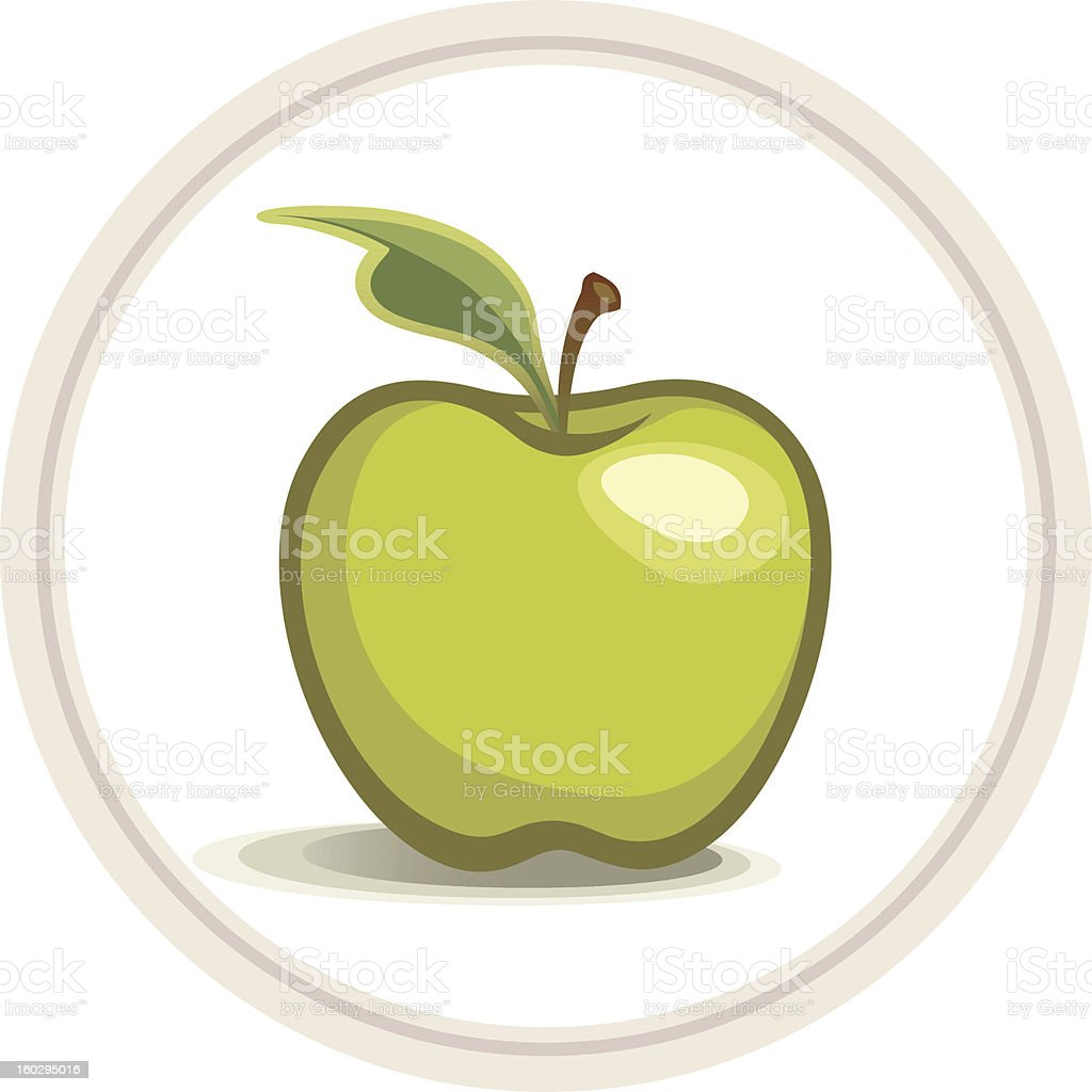 Apple (Green) vector art illustration