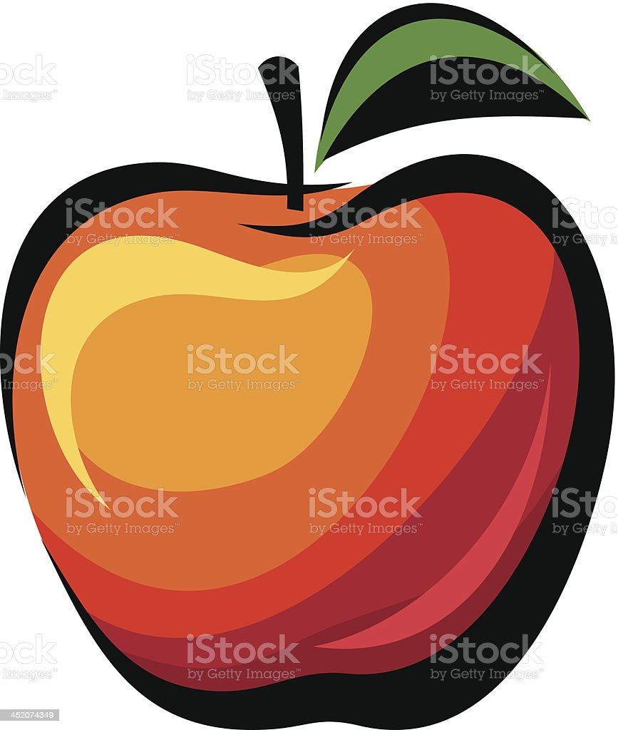 Apple. Vector illustration. royalty-free stock vector art