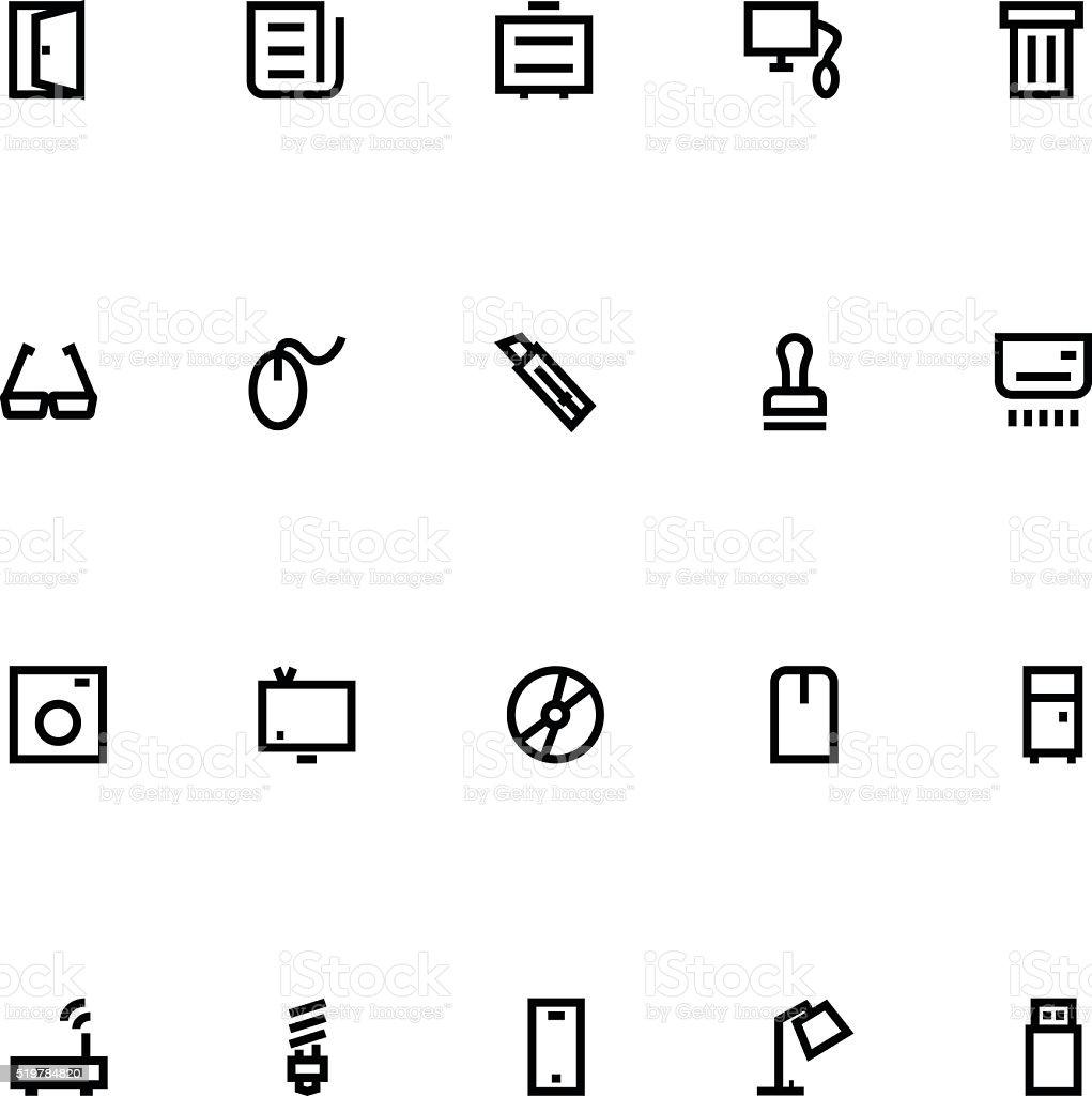 Apple Watch Vector Icons 15 vector art illustration