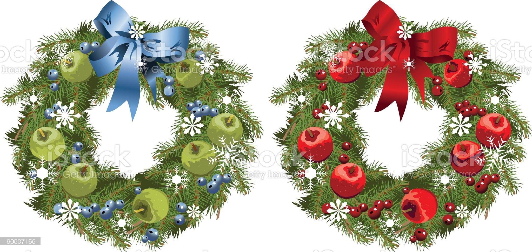 Apple Wreaths royalty-free stock vector art