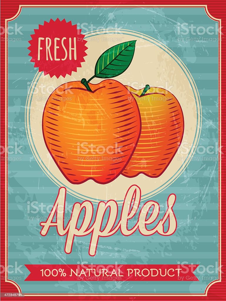 apples poster royalty-free stock vector art