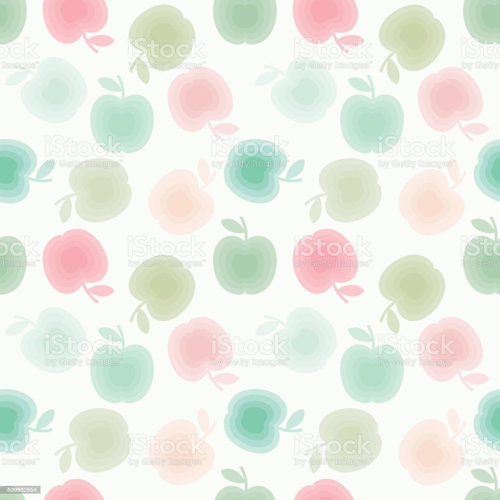 Apples seamles pattern vector art illustration