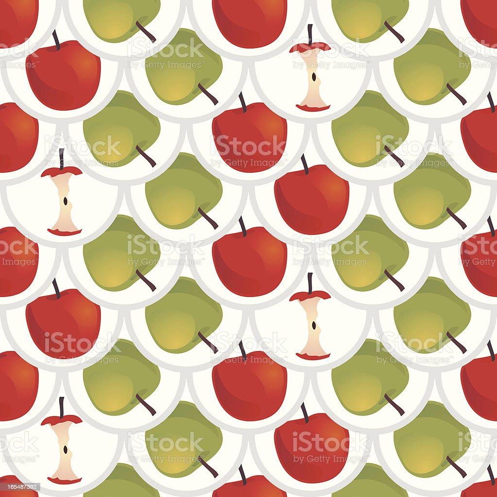 Apples Seamless Wallpaper royalty-free stock vector art