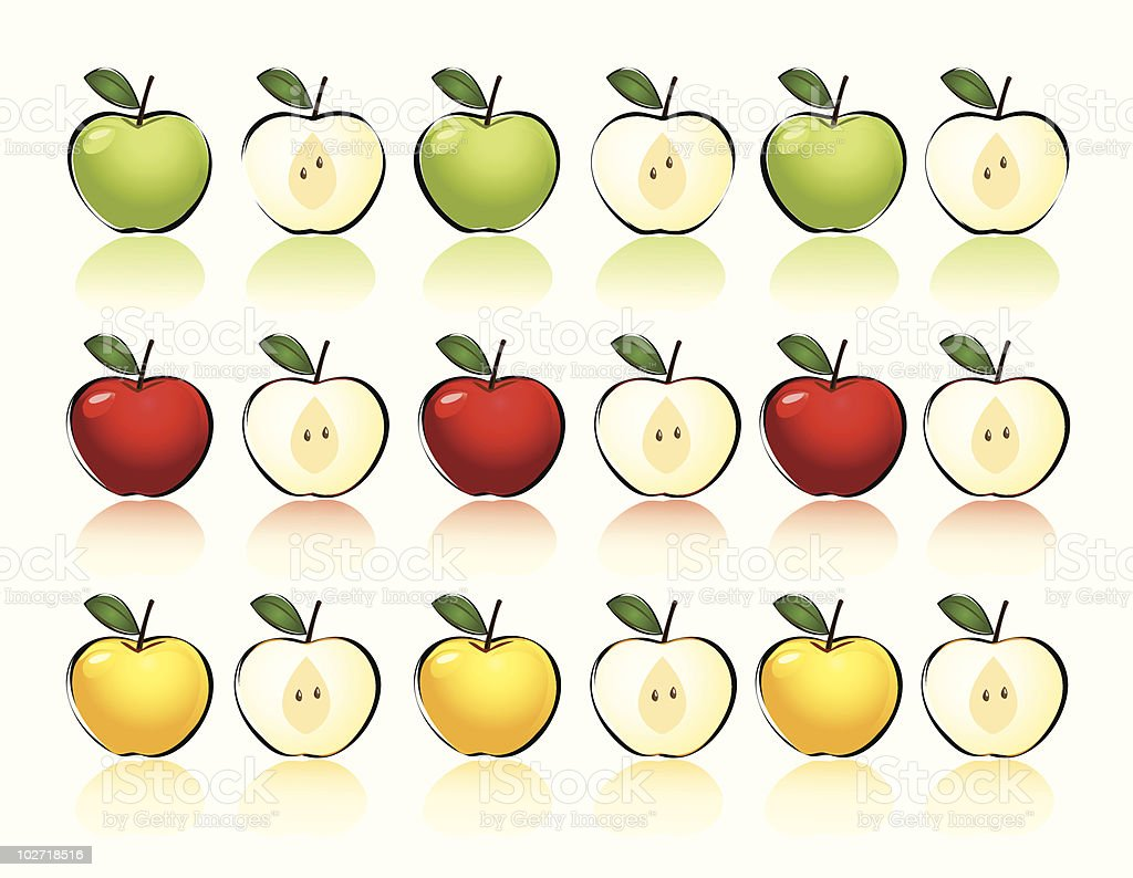 Apples vector art illustration
